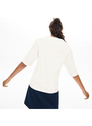 Lacoste Kadın Truvakar Kollu Bluz CF8462.70V Bej